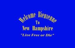 Benvenuto a del New Hampshire Fotografia Stock Libera da Diritti
