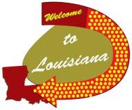 Benvenuto del segnale stradale in Luisiana illustrazione vettoriale