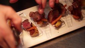 Benvenuto dell'alimento della carne piccolo video d archivio