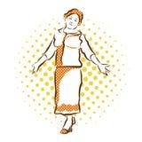 Benvenuto della nonna Schizzo disegnato a mano di vettore Immagini Stock