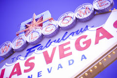 Benvenuto di Las Vegas Fotografia Stock