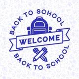 Benvenuto di nuovo alla carta della scuola Immagine Stock Libera da Diritti