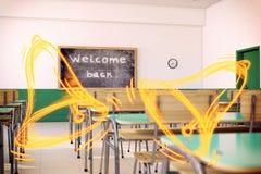 Benvenuto di nuovo alla scuola Fotografia Stock