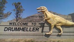 Benvenuto a Drumheller Fotografia Stock