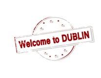 Benvenuto a Dublino Fotografie Stock Libere da Diritti