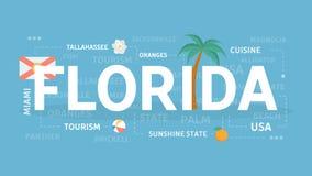 Benvenuto a Florida illustrazione vettoriale
