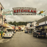 Benvenuto a Ketchikan Alaska Fotografia Stock Libera da Diritti