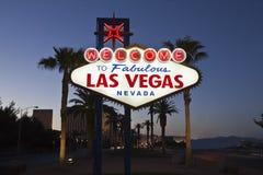 Benvenuto a Las Vegas favolosa Immagini Stock