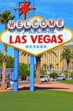 Benvenuto a Las Vegas favolosa Fotografie Stock Libere da Diritti