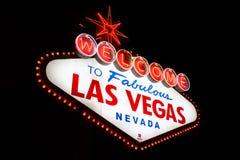 Benvenuto a Las Vegas favolosa Fotografia Stock Libera da Diritti