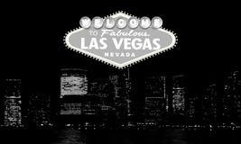 Benvenuto a Las Vegas favolosa Nevada Retro benvenuto classico al segno di Las Vegas sul grande fondo della città Moderno semplic illustrazione vettoriale