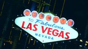 Benvenuto a Las Vegas Segno della striscia video d archivio