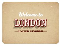 Benvenuto a Londra illustrazione di stock
