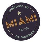 Benvenuto a Miami Florida royalty illustrazione gratis
