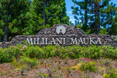 Benvenuto a Mililani Mauka Fotografie Stock
