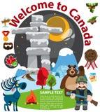 Benvenuto nel Canada illustrazione vettoriale