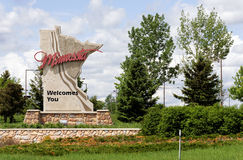 Benvenuto nel Minnesota fotografie stock libere da diritti