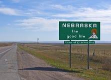 Benvenuto nel Nebraska Fotografie Stock