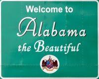 Benvenuto nell'Alabama Fotografie Stock