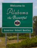 Benvenuto nell'Alabama w \ regolatore Fotografia Stock Libera da Diritti