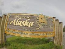 Benvenuto nell'Alaska Immagine Stock