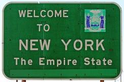 Benvenuto a New York Fotografia Stock Libera da Diritti