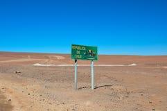 Benvenuto in Repubblica del Cile! Fotografia Stock