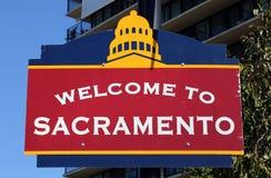 Benvenuto a Sacramento fotografia stock