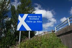 Benvenuto in Scozia Fotografia Stock