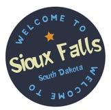 Benvenuto a Sioux Falls South Dakota illustrazione di stock