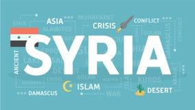 Benvenuto in Siria royalty illustrazione gratis