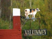 Benvenuto sull'azienda agricola Fotografia Stock Libera da Diritti