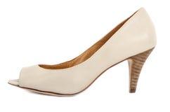 Benvit öppna Toe Shoes #3 Royaltyfri Bild