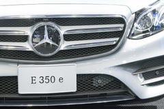 Benz της Mercedes αυτοκίνητο στην επίδειξη στη έκθεση αυτοκινήτου Στοκ Εικόνα