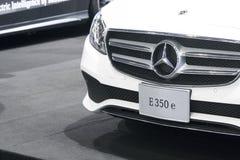 Benz της Mercedes αυτοκίνητο στην επίδειξη στη έκθεση αυτοκινήτου Στοκ εικόνα με δικαίωμα ελεύθερης χρήσης