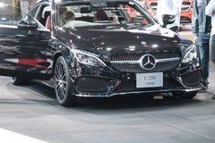 Benz της Mercedes αυτοκίνητο στην επίδειξη στη έκθεση αυτοκινήτου στοκ εικόνες
