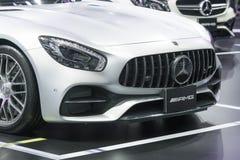 Benz της Mercedes αυτοκίνητο στην επίδειξη στη έκθεση αυτοκινήτου Στοκ εικόνες με δικαίωμα ελεύθερης χρήσης