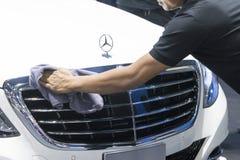 Benz της Mercedes αυτοκίνητο στην επίδειξη στη μηχανή Showh Στοκ Φωτογραφία