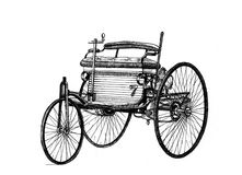 Benz Car, Hand gezeichnet Stockfoto