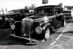 Benz de Mercedes del negro de la demostración de coche Imagen de archivo libre de regalías