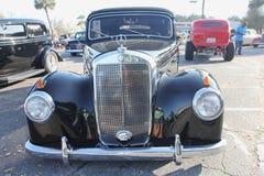 Benz noir de Mercedes de salon automobile Photographie stock libre de droits