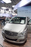 Benz pearl suv royalty free stock photo