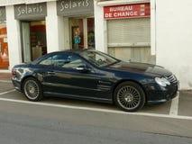 Benz SL55 AMG V8 Kompressor της Mercedes Στοκ φωτογραφία με δικαίωμα ελεύθερης χρήσης