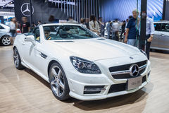 Benz SLK200 on display Stock Images