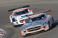 Benz SLS GT3 di Mercedes Fotografie Stock