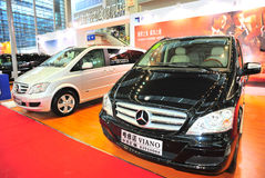 Benz viano and vito. Benz black viano and slive vito at 2011 shenzhen motor carnival exhibition Royalty Free Stock Images