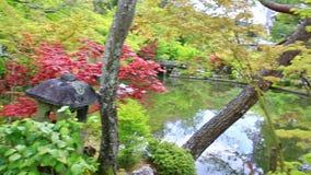 Benzaiten shrine in Eikan-do. Benzaiten shrine panorama in Eikan-do Zenrin-ji temple in Kyoto, Japan. Zenrin-ji, and is the main temple of Jodoshu Buddhism stock footage