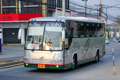 Benze Bus of Green bus Company. Between Chiangmai and Thungchang (Nan) Stock Photos