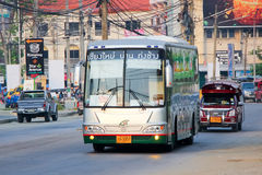 Benze Bus of Green bus Company. Between Chiangmai and Thungchang (Nan) Royalty Free Stock Image