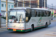 Benze Bus of Green bus Company. Between Chiangmai and Thungchang (Nan) Stock Photo